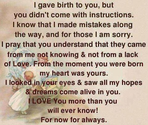 Fact... To my 4 babies Momma will always LOVE you!! You have been through some tough times but have managed you 4 are my world my heart my soul!! You are the reason I wake up everyday!!!