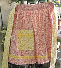 free apron pattern - reversible apron
