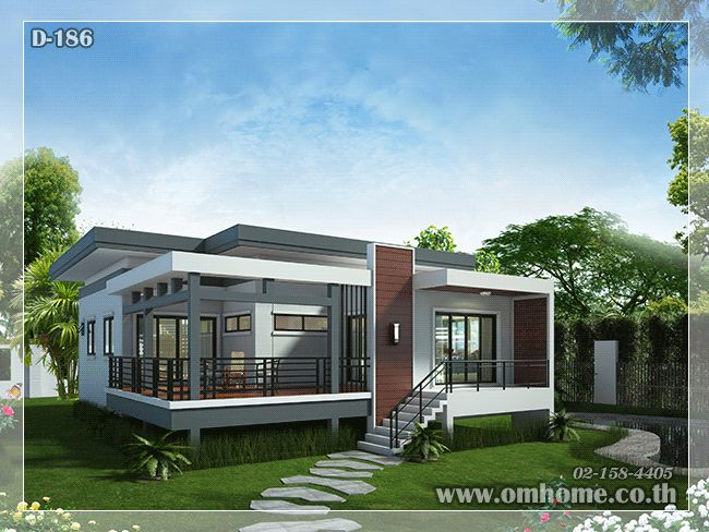 84 best แปลนบ้าน images on Pinterest Modern home plans, Modern - plan maison plain pied 80m2