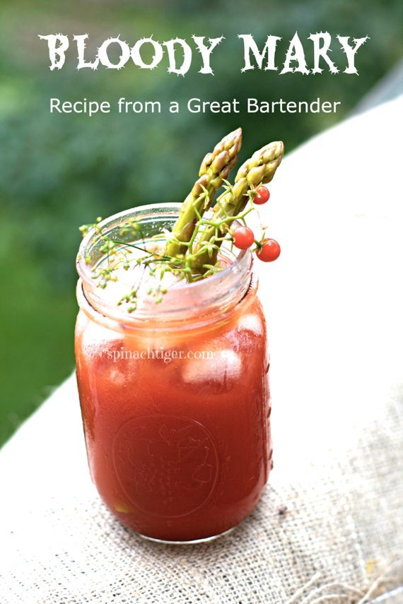 Best Bloody Mary with Pickled Asparagus, Recipe from a Bartender