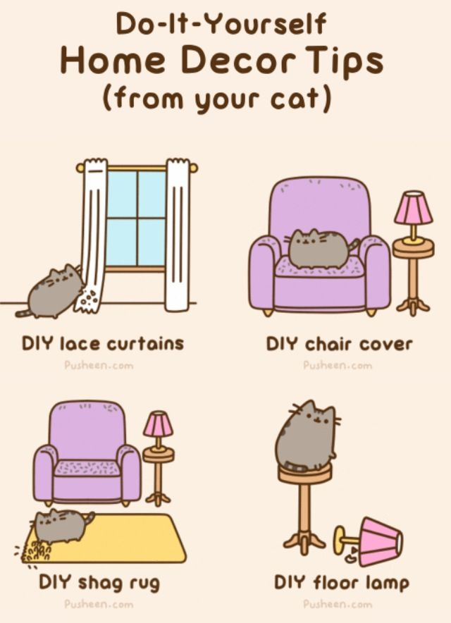 Do It Yourself Home Decorating Ideas: Pusheen. Do It Yourself Home Decor Tips