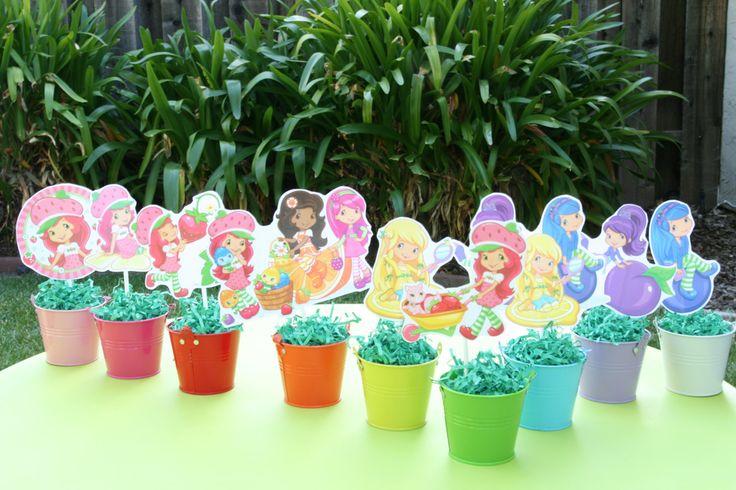Strawberry Shortcake and friends | Mini Strawberry Shortcake and Friends by OnceUponAnInvite on Etsy