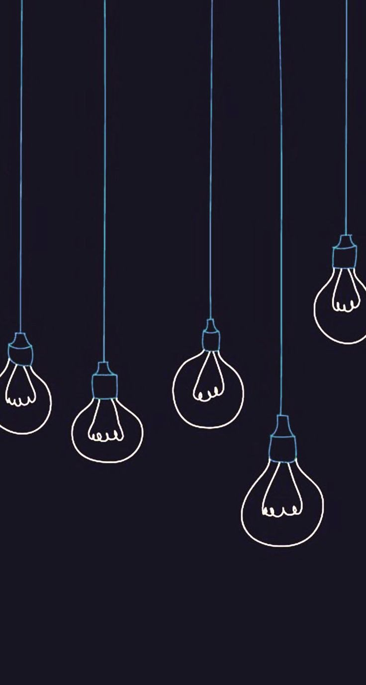 Light bulbs minimalistic