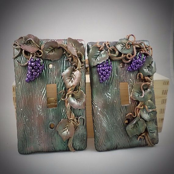 Switch Plate Covers Grape cluster on Vine by ClayToPlease