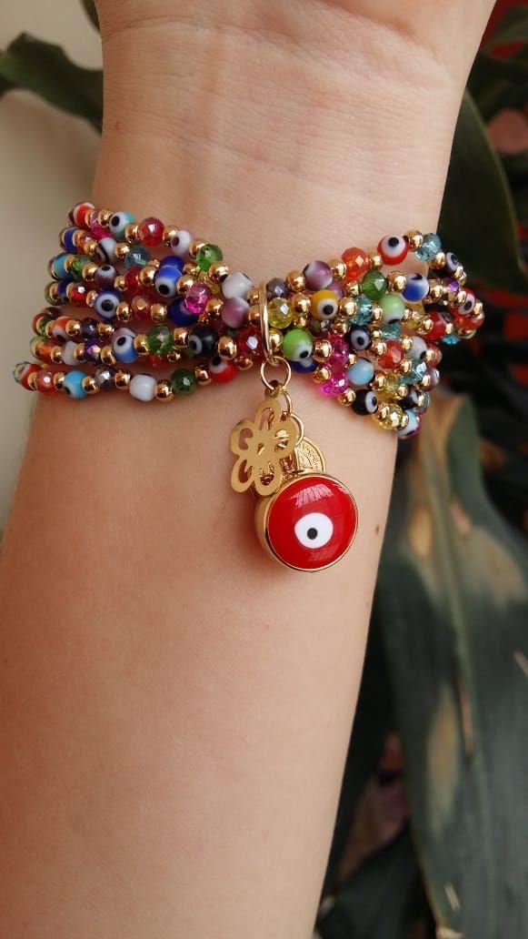 Reino Unido diseñador mujeres señoras con cuentas cadena pulsera joyería de oro