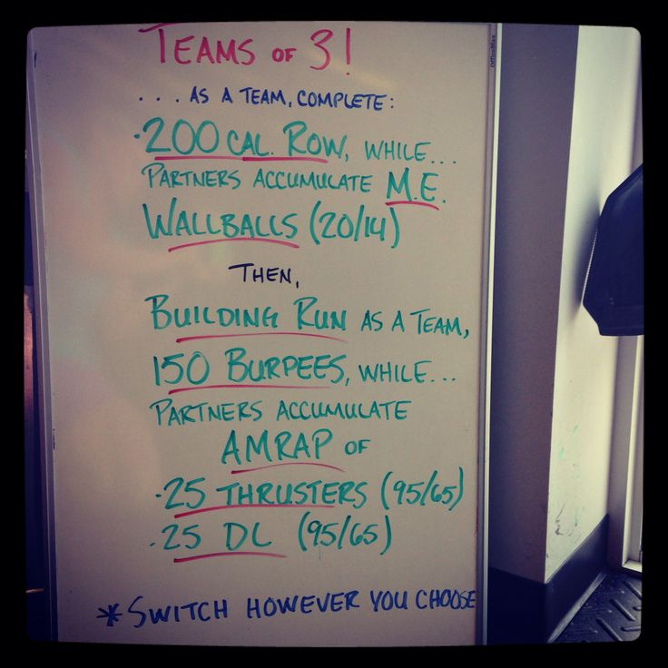 Teams of 3 | WOD BOARD | Exercise, Workout, Crossfit