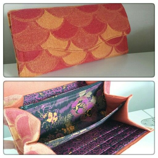 Necessary Clutch Wallet by EmBee Designs (made from Kokadi Fire Scales)