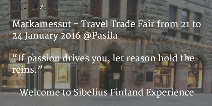 TravelTradeFair 21-24Jan helsiki   http://www.messukeskus.com/Sites3/Matka/en/Kavijat/Pages/default.aspx  #StopOverFi #Sibelius #Finland #Experience #StopOver