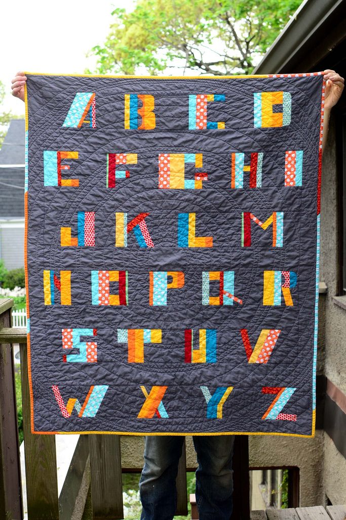alphabet baby quilt | Flickr - Photo Sharing!