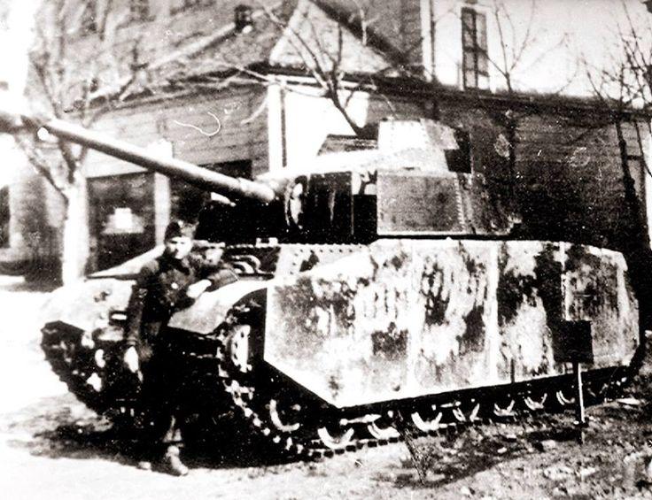 1943 M. Turán III. nehéz harckocsi 75 mm-es hosszú csövű ágyúval