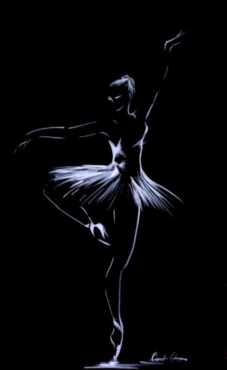 задачей картинка балерина черно белая картинка образом, самой