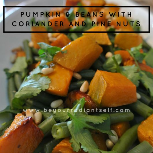 Pumpkin & Beans with Coriander and Pine Nuts