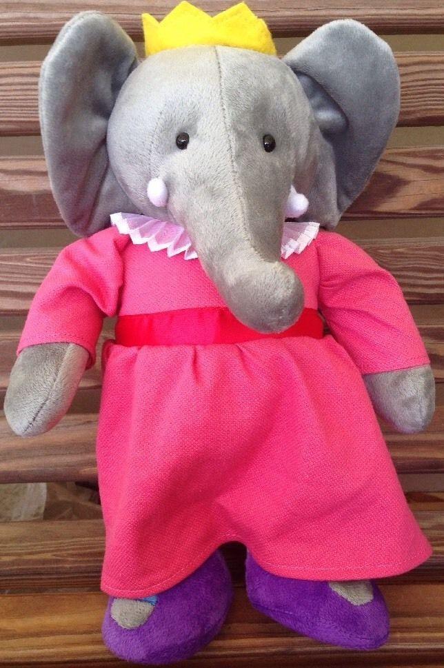 Babar Celeste 13 Quot Yottoy Plush Elephant Pink Dress Stuffed