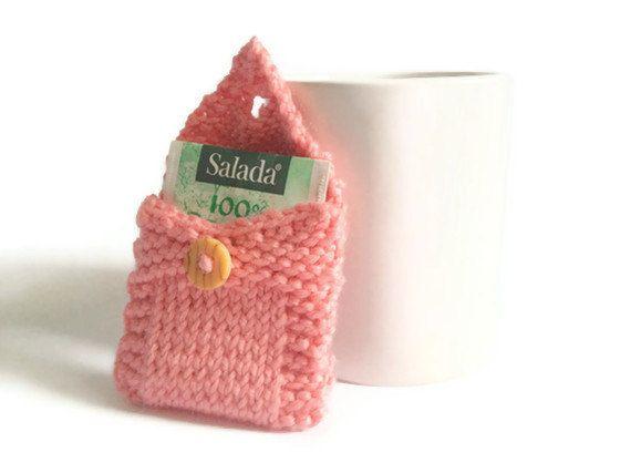 Tea Tote Tea Holder Tea Bag Purse in Light Pink by MadebyMegShop, $10.00