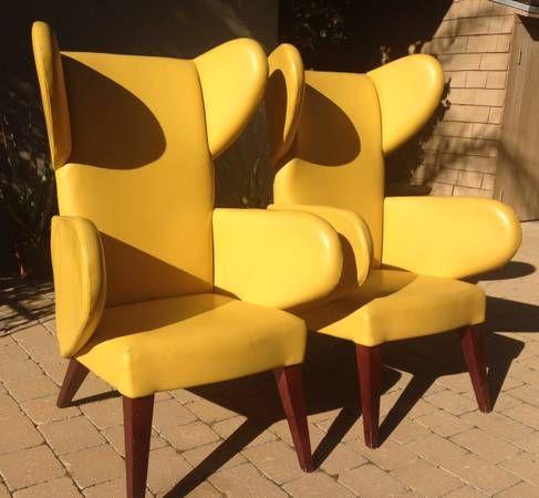 Fun retro chairs $650