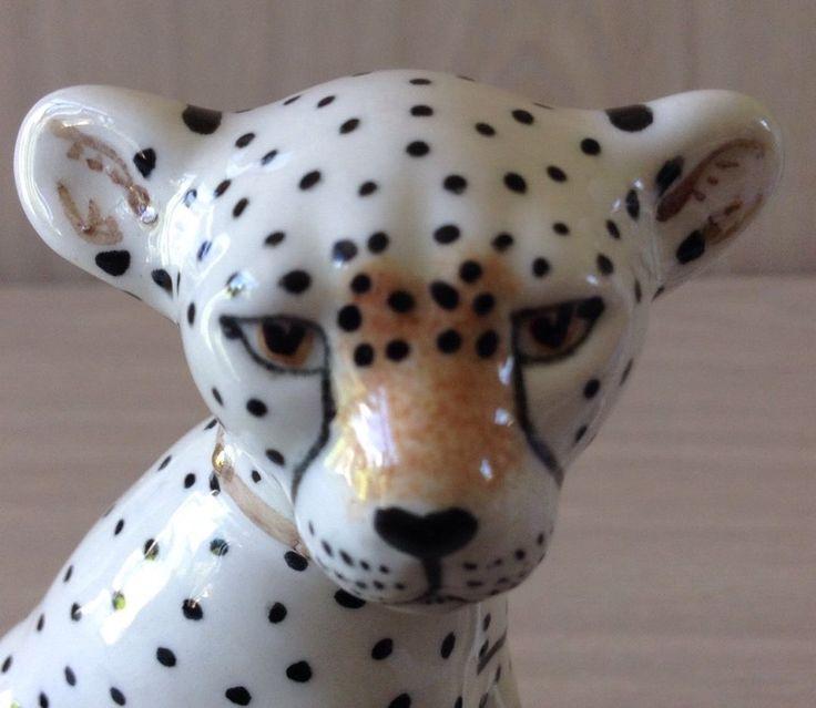 MIRANDA C SMITH CHEETAH ART POTTERY FIGURINES - PAIR | eBay