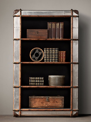 trunk bookcase from restoration hardware