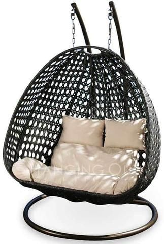 spice up your home and garden with the twin perch hanging swing chair perfect for relaxing with a friend or loved one or fully stretched out solo