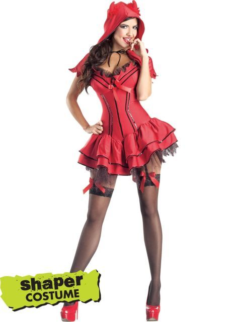 unleash your wicked side with our devil costume body shaper this sexy halloween outfit will sculpt and shape your curves giving you a fantastic shape