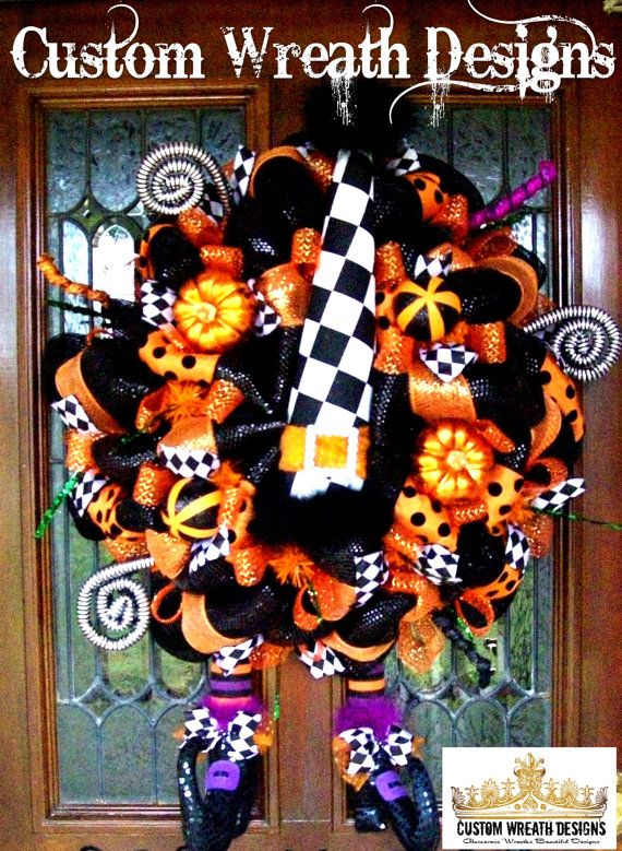 Whimsical Halloween Diamond Check Witch Hat and by lilmaddydesigns
