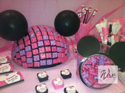 mesa dulce minnie sweet table minnie pinterest mesas. Black Bedroom Furniture Sets. Home Design Ideas