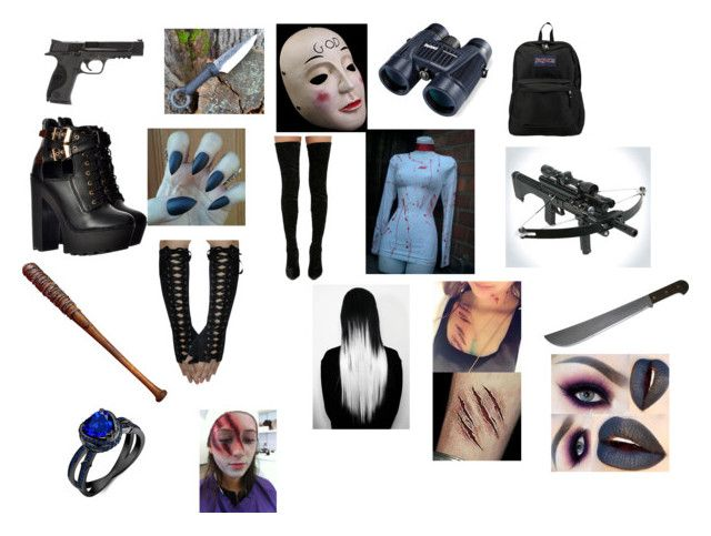 """Purge"" by isabelegolia on Polyvore featuring JanSport, Bushnell, Masquerade, Cape Robbin, Smith & Wesson and Lucille"