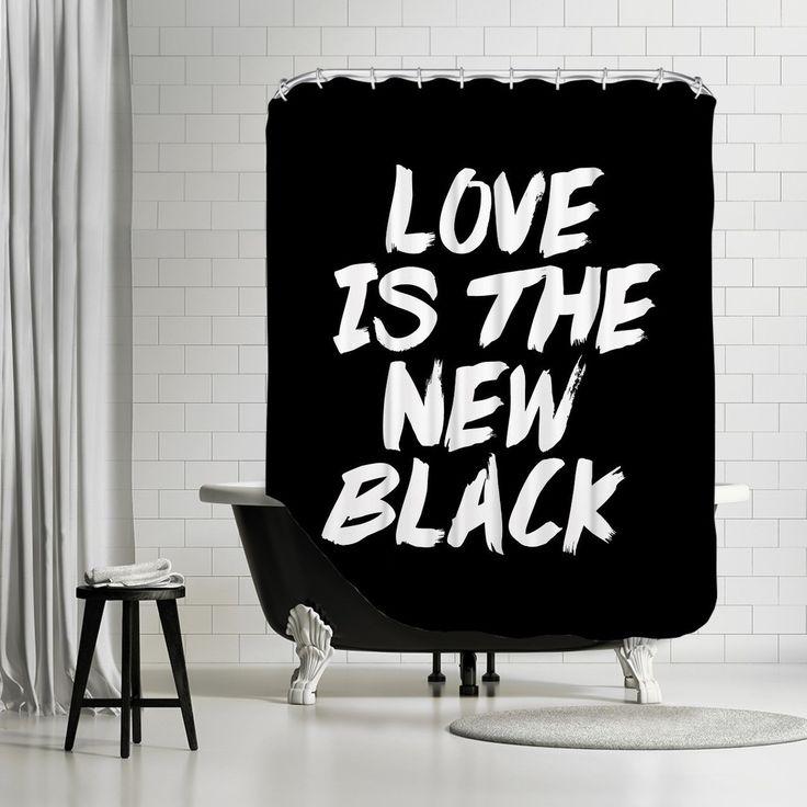 Black Shower Curtains 19 best shower curtains images on pinterest | fabric shower