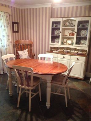 Welsh Dresser Chairs And Table Finished In Annie Sloan Paint Colours Original Emile