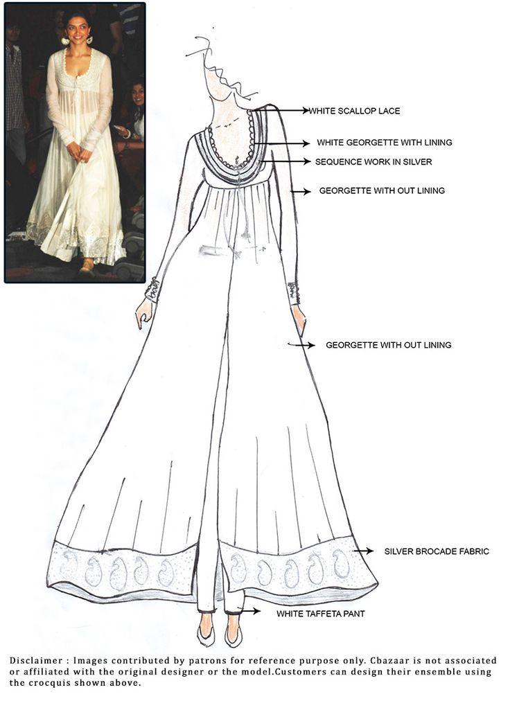 DIY Deepika Padukone Ankle Length Anarkali Suit