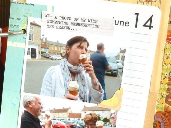 Filling a Junk Journal: My 'Summertime 2014' album *Part 4*. Using a junk journal as a relaxed style of scrapbook by Julie Kirk