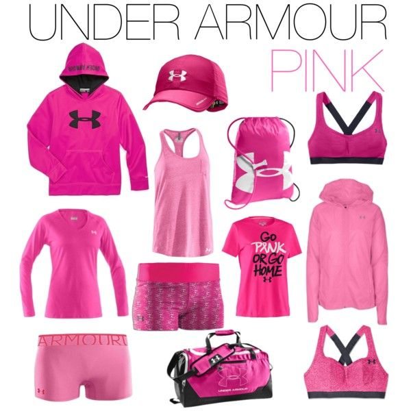 Under Armour Pink representing the brand as an ambassador!