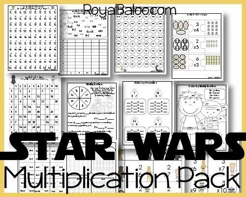 Baloo is back in a Star War phase and has told me he would do extra multiplication work if it was Star Wars themed. Naturally, I jumped on that opportunity!! So in this multiplication pack is…