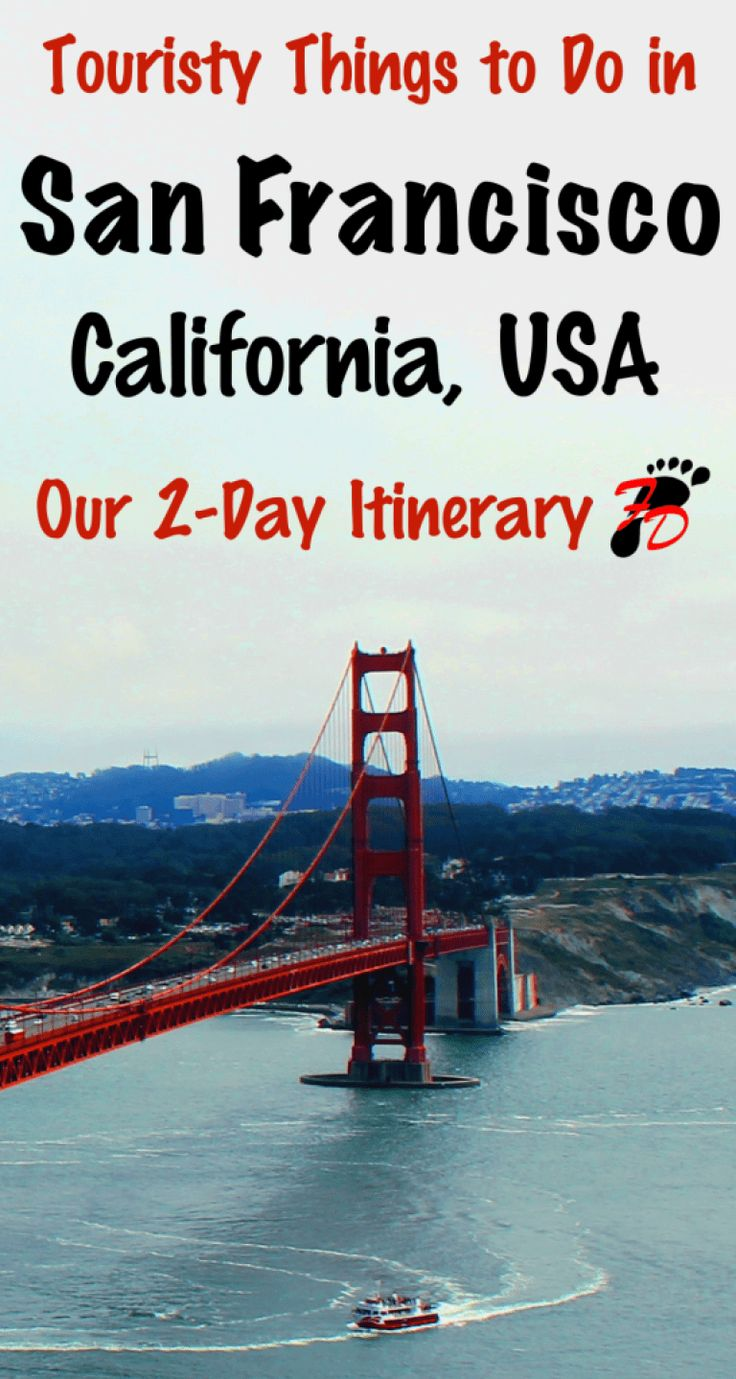Trying to figure out what to do with your time in San Francisco, California, USA? From Fisherman's Wharf to the Golden Gate Bridge, read to full article to see all the top touristy things to do in San Francisco! Don't forget to pin this to your travel and United States boards!   #SanFrancisco #California #UnitedStates #ThingsToDo #GoldenGate #GoldenGateBridge