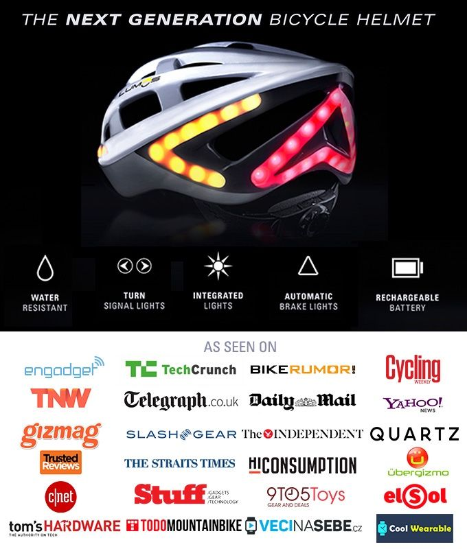 The ultimate bicycle helmet with brake lights and turn signals to help cyclists stay safe and visible on the road.