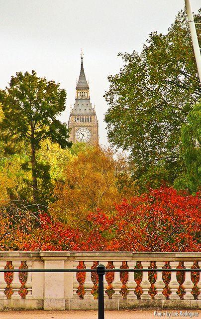 Big Ben from St James' Park, London