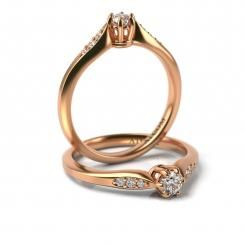 Inel de logodna Marcus cu diamante din aur roz