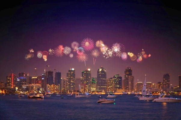 Best Places To Watch New Years Eve Fireworks In San Diego San Diego Fireworks San Diego Events 4th Of July Fireworks