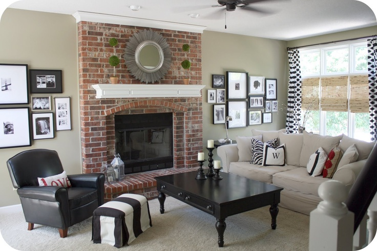 idea: Add crown molding to top of fireplace that will help ...