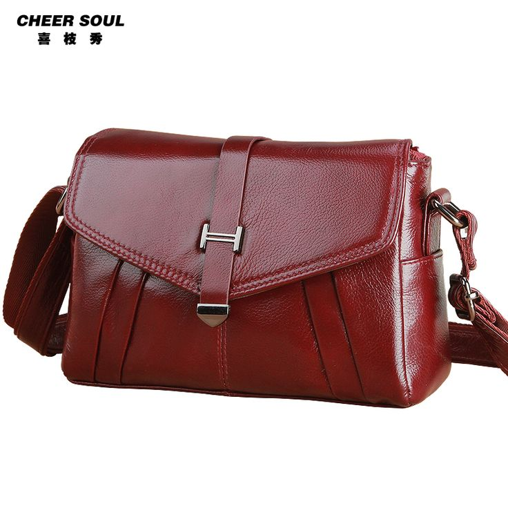 Luxury Women Female Trend Pack Purse 100% First layer Genuine Leather Shoulder Messenger Cross Body High Quality Designer Bag