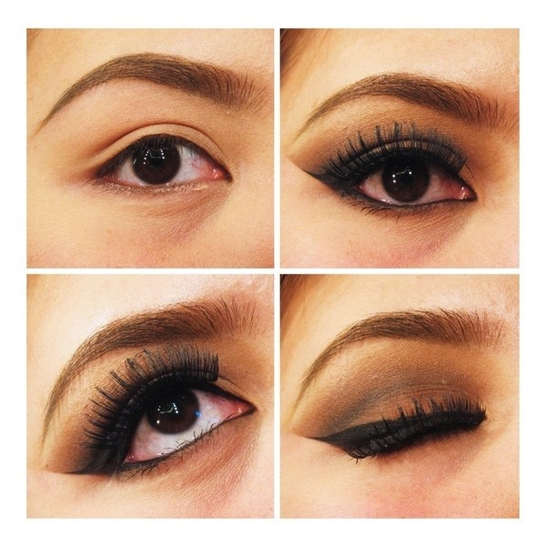 Eye Makeup Dramatic Brown ❤ liked on Polyvore