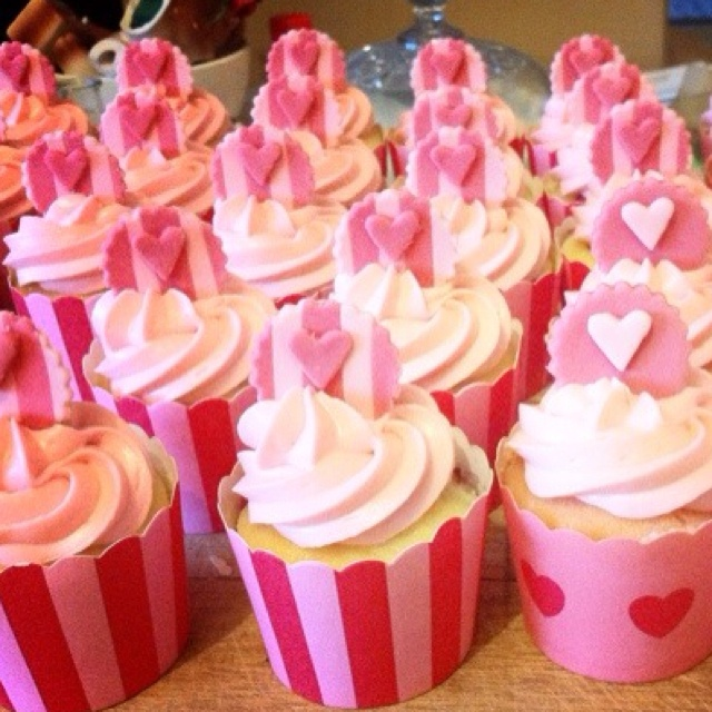 Our R cupcakes for the event: Cupcakes Rosa-Choqu