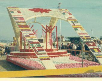Rose Parade 1967 | 1967 Canada Flag Float Tournament o f Roses Rose Parade Pasadena Ca ...