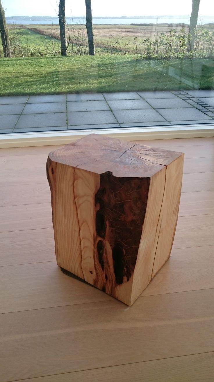 Træstub tilpasset til stue bord