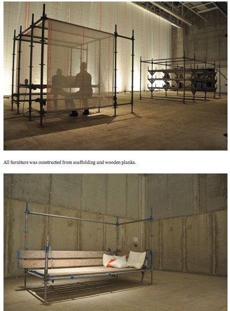 Scaffolding furniture - would work for chicken run too.