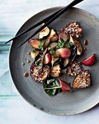 Honey-Soy Glazed Vegetables with Crispy Mushrooms // Fast Asian Dishes: http://www.foodandwine.com/slideshows/fast-asian #foodandwine