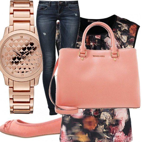 Outfit semplicissimo, da passeggiata nel parco. Il tratto distintivo è sicuramente la borsa che dona un tocco di classe a quanto di più semplice si possa indossare. Il rosa in tutte le sue varianti è il mio colore preferito e spero possa piacere anche a voi.