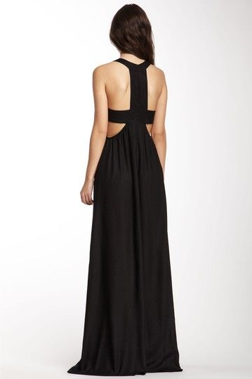 Maxi Cutout Dress / i srsly might have to drop everything i am doing and do this to my black maxi right now. the lines are *perfection* for flattering my body and it's very comfortable for florida summers too
