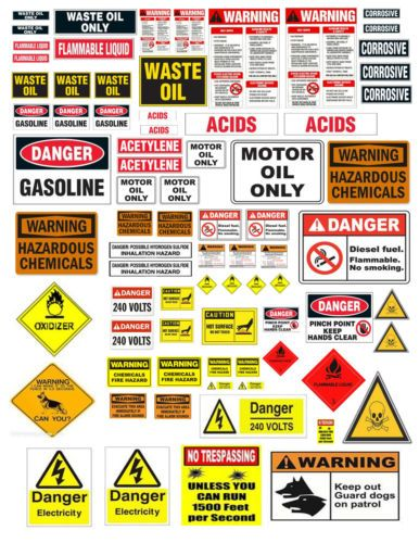 1: 24 1:18 WARNING SIGN DECALS FOR DIECAST GARAGE  & MODEL CARS & DIORAMAS | Toys & Hobbies, Wholesale Lots, Other Wholesale Toy Lots | eBay!