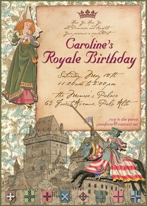 Princess and Knight Royal Party Invitations I got for McKenna's 1st birthday Party! I LOVE them!