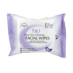 #Elise Deep Pore Cleansing Wipes Pack of 25
